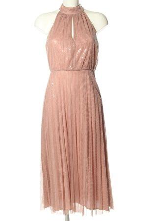 H&M Cocktailkleid pink Glanz-Optik
