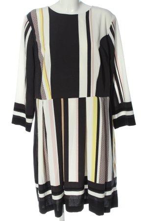H&M Cocktailkleid weiß-schwarz Streifenmuster Business-Look