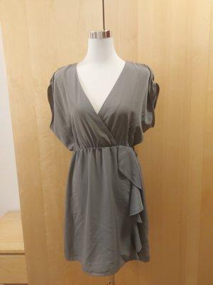 H&M Cocktailkleid Abendkleid grau/silber
