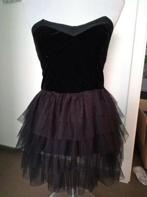 H&M Vestido estilo flounce negro