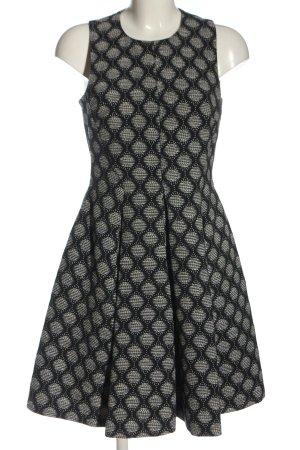 H&M Cocktailkleid schwarz-creme Allover-Druck Elegant