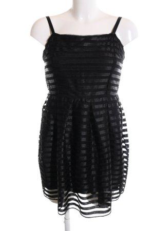 H&M Cocktailkleid schwarz Streifenmuster Elegant