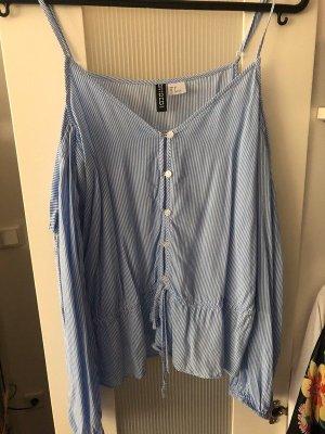 H&M Cold-Shoulder Bluse karriert nordischer Style