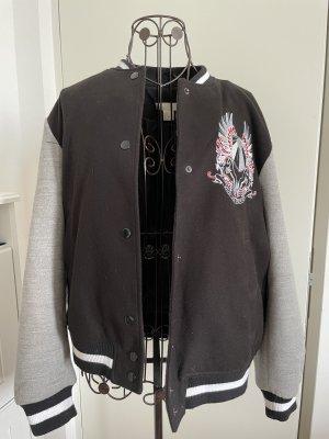 H&M College Jacket black-light grey