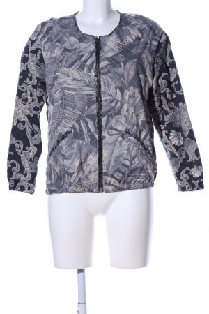 H&M College Jacket blue-natural white abstract pattern casual look