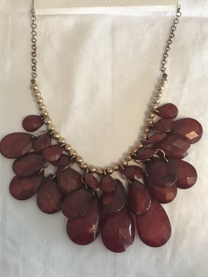 H&M Necklace gold-colored-carmine