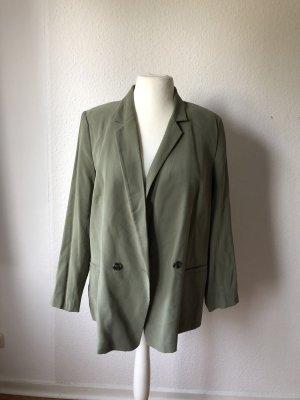 H&M Conscious Collection Blazer boyfriend kaki-gris vert