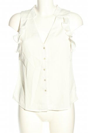 H&M Conscious Collection ärmellose Bluse weiß Elegant