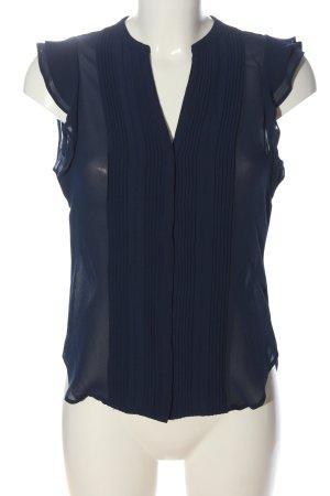H&M Conscious Collection ärmellose Bluse blau Casual-Look