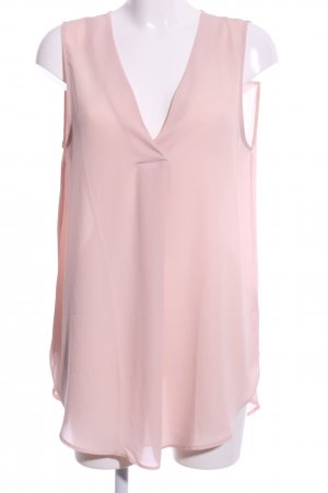 H&M Conscious Collection ärmellose Bluse pink Business-Look