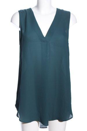 H&M Conscious Collection ärmellose Bluse blau Elegant