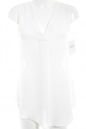 H&M Conscious Collection ärmellose Bluse wollweiß Elegant