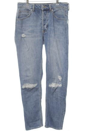 H&M Conscious Collection Baggyjeans blau Street-Fashion-Look