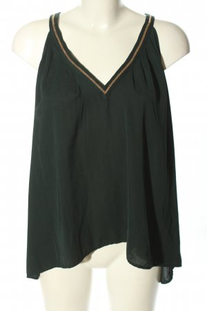 H&M Conscious Collection Blusentop schwarz-wollweiß Webmuster Casual-Look