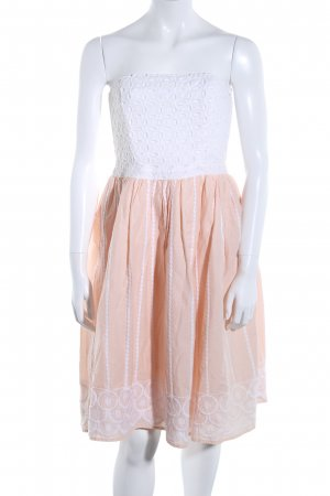 H&M Conscious Collection Bustierkleid weiß-pink Mustermix Casual-Look