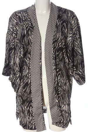 H&M Conscious Collection Cardigan schwarz-wollweiß abstraktes Muster