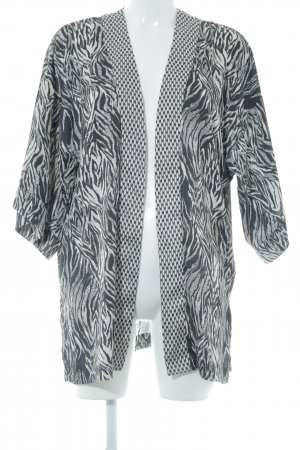 H&M Conscious Collection Cardigan schwarz-wollweiß Animalmuster Casual-Look