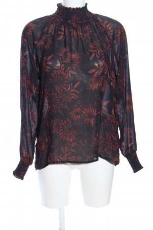H&M Conscious Collection Crash Blouse blue-red flower pattern business style