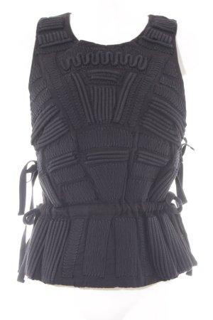 H&M Conscious Collection Cut Out Top black elegant