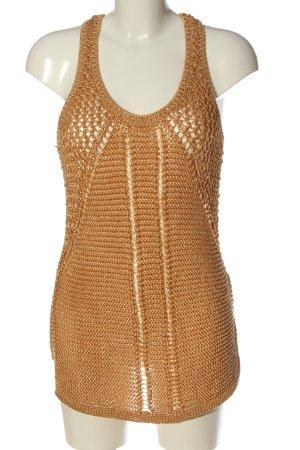 H&M Conscious Collection Jersey de ganchillo marrón look casual