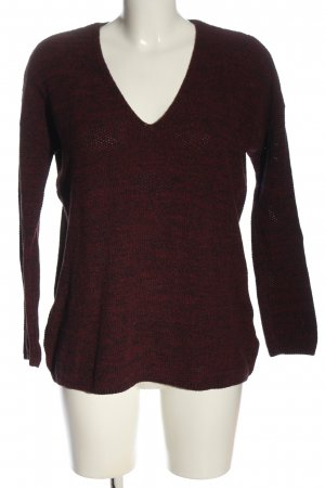 H&M Conscious Collection Gehaakte trui rood gestippeld casual uitstraling