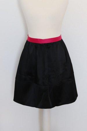 H&M Conscious Collection High Waist Rock Gr. 40, schwarz/pink