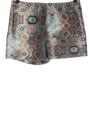 H&M Conscious Collection High-Waist-Shorts Allover-Druck Glanz-Optik