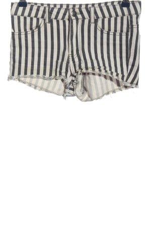 H&M Conscious Collection Short en jean noir-blanc motif rayé