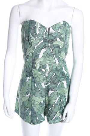 H&M Conscious Collection Tuta bianco-verde motivo floreale stile casual