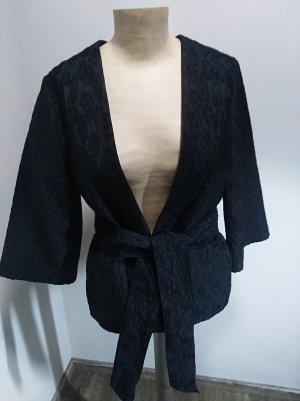 H&M Conscious Collection Kimono Blazer schwarz Gr. 38