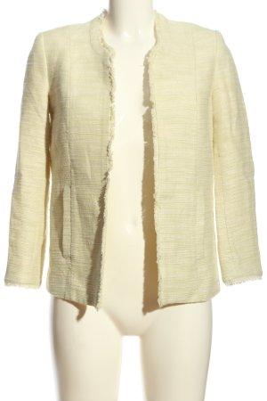 H&M Conscious Collection Kurz-Blazer creme-wollweiß meliert Casual-Look