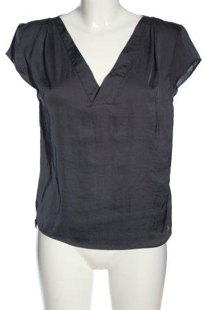H&M Conscious Collection Kurzarm-Bluse schwarz Casual-Look