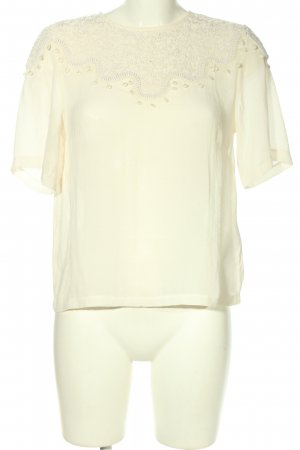 H&M Conscious Collection Kurzarm-Bluse creme Casual-Look