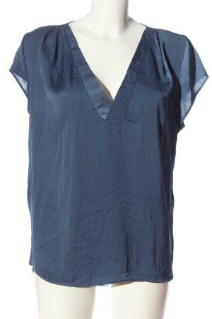 H&M Conscious Collection Kurzarm-Bluse blau Casual-Look