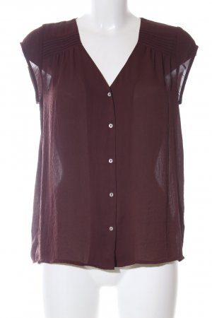 H&M Conscious Collection Kurzarm-Bluse braun Casual-Look