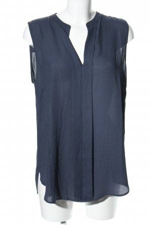 H&M Conscious Collection Kurzarm-Bluse blau Casual-Look
