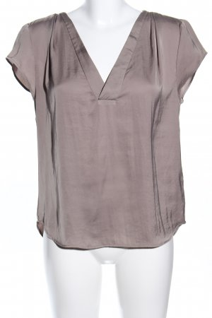 H&M Conscious Collection Kurzarm-Bluse braun Business-Look