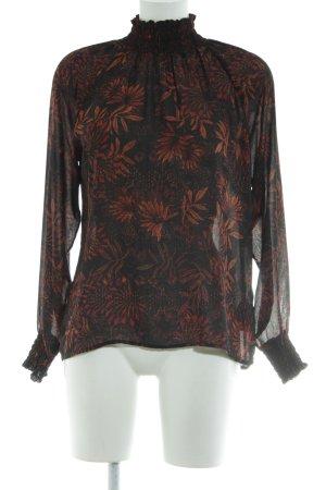 H&M Conscious Collection Langarm-Bluse Blumenmuster Elegant