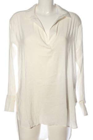 H&M Conscious Collection Langarm-Bluse weiß Business-Look