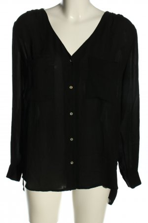 H&M Conscious Collection Langarm-Bluse schwarz Casual-Look
