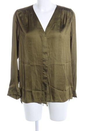 H&M Conscious Collection Langarm-Bluse khaki Casual-Look