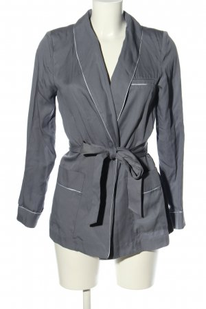 H&M Conscious Collection Lange Jacke hellgrau Casual-Look