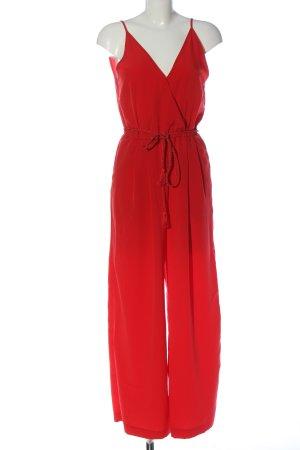 H&M Conscious Collection Langer Jumpsuit rot Elegant