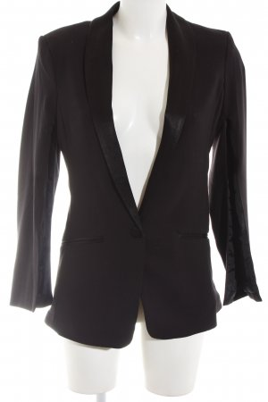 H&M Conscious Collection Long-Blazer schwarz Business-Look