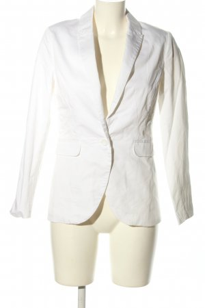 H&M Conscious Collection Long-Blazer weiß Casual-Look