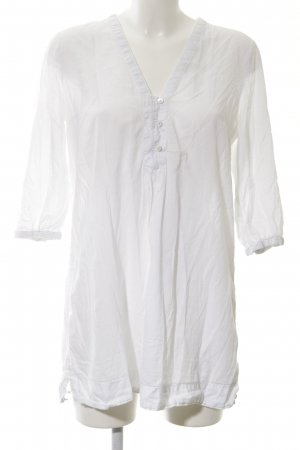 H&M Conscious Collection Long-Bluse weiß Casual-Look