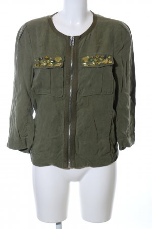 H&M Conscious Collection Oversized Jacke khaki Casual-Look