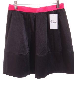 H&M Conscious Collection Rock schwarz-pink extravaganter Stil