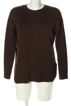 H&M Conscious Collection Pull ras du cou brun style décontracté