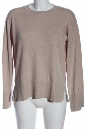 H&M Conscious Collection Rundhalspullover braun meliert Casual-Look